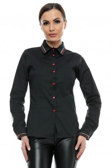 Camasa pentru femei marca Crisstalus neagra cambrata