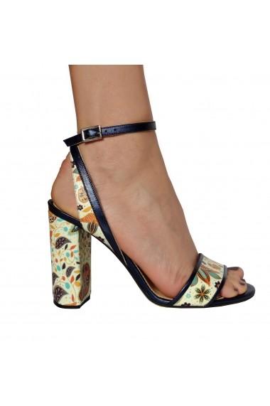 Sandale pentru femei Crisstalus cu motive florale indiene printate
