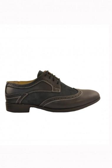 Pantofi pentru barbati marca Mopiel bleumarin din piele naturala