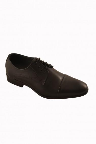 Pantofi pentru barbati marca Mopiel negri din piele naturala