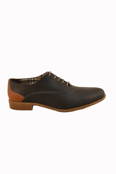 Pantofi pentru barbati Mopiel negru cu maro