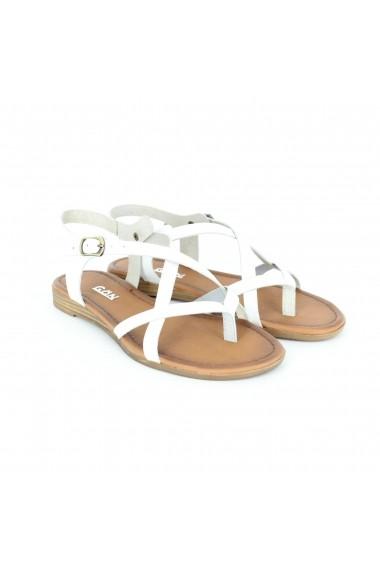 Sandale pentru femei Alist Fashion albe cu barete si talpa joasa