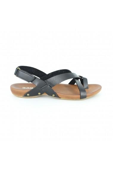 Sandale pentru femei Alist Fashion din piele naturala, cu talpa joasa