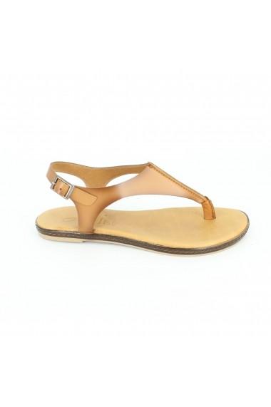 Sandale pentru femei Alist Fashion maro cu bareta reglabila