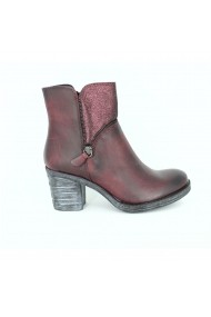 Ghete marca Alist Fashion burgundy din piele naturala