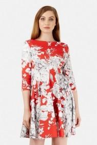 Rochie scurta Roh Boutique cu imprimeu floral - CLD1086 crem
