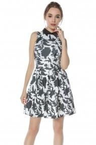 Rochie scurta Roh Boutique scurta, allb cu negru, ROH - CLD1135 alb|negru