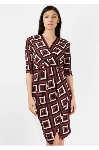 Rochie de zi Roh Boutique cu imprimeu geometric - CLD1092 multicolora