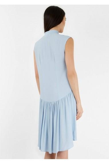 Rochie midi Roh Boutique midi, albastra, cu nasturi pe partea din fata, ROH - CLD1125 albastru