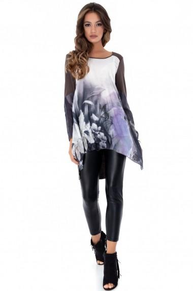 Bluza Roh Boutique gri, ROH, cu imprimeu floral - DR3620 multicolor
