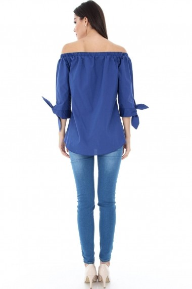 BLUZE Roh Boutique OFF THE SHOLUDER - CLB094 albastru