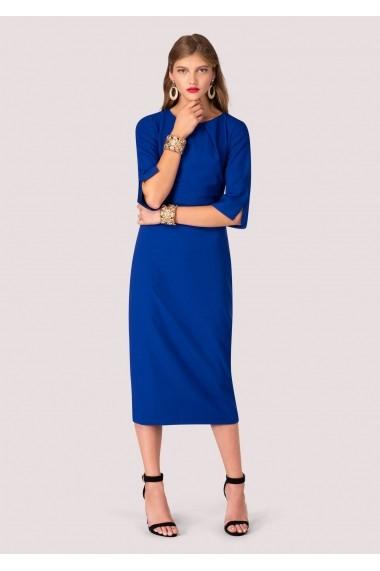 Rochie Roh Boutique albastru roial, ROH, midi - DR3611 albastru