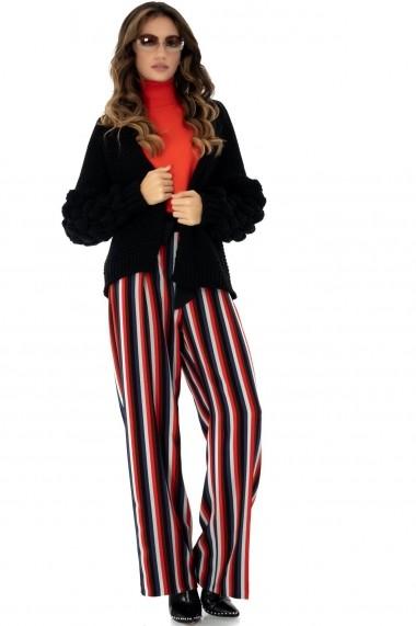 Pantaloni largi Roh Boutique in dungi - TR287 multicolor