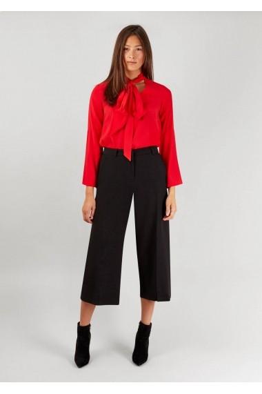 Pantaloni trei sferturi Roh Boutique negri, office, ROH - CLT103 negru