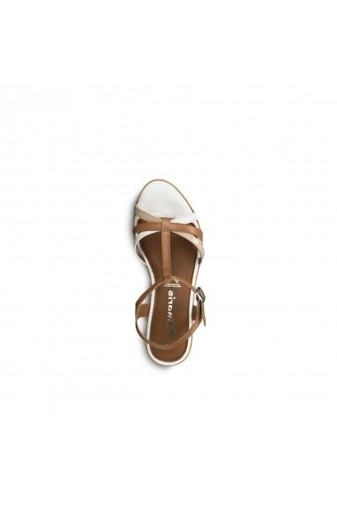 Sandale cu platforma TAMARIS GGA540 maro