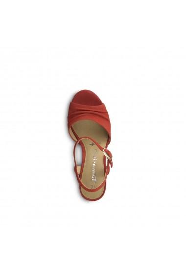 Sandale cu toc TAMARIS GGA607 rosu