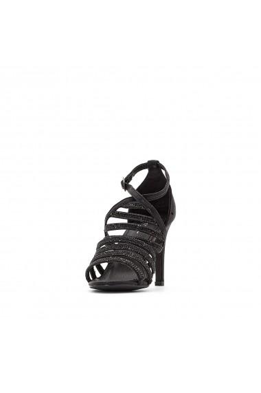 Sandale cu toc KAPORAL GFG756 negru