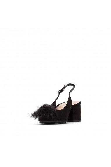 Pantofi cu toc La Redoute Collections GEY965-black Negru