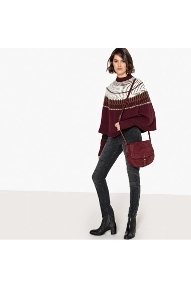 Pulover La Redoute Collections GEY647 bordo