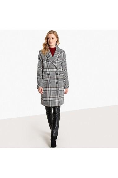 Palton La Redoute Collections GFA439-grey checks Gri