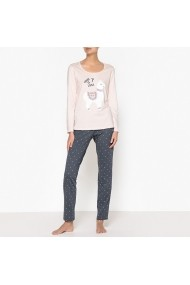 Pijama La Redoute Collections GEX604-pale_pink-printed Roz