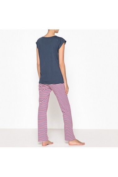 Pijama La Redoute Collections GEX608-navy_blue_grey_marl Bleumarin