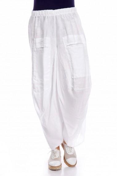 Pantaloni Strada rivka-blanc alb - els