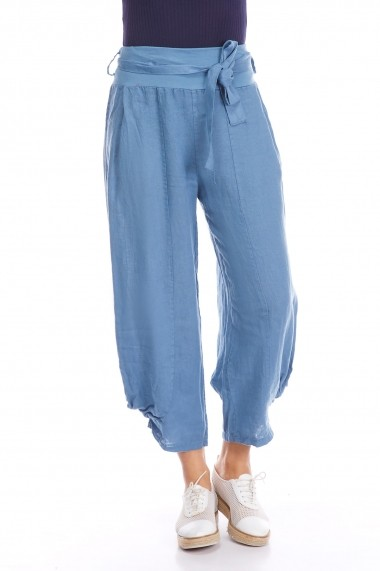 Pantaloni Strada alison-jean albastru