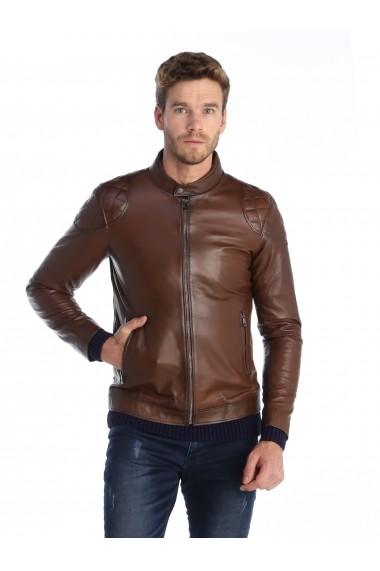 Jacheta din piele Sir Raymond Tailor SI383132 Maro