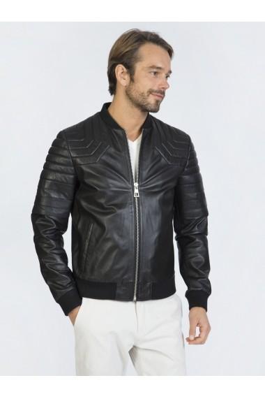 Jacheta din piele Sir Raymond Tailor SI7549186 Negru
