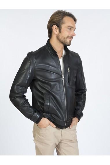 Jacheta din piele Sir Raymond Tailor SI9760123 Negru