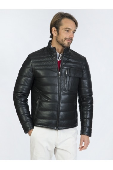 Jacheta din piele Sir Raymond Tailor SI9719342 Negru