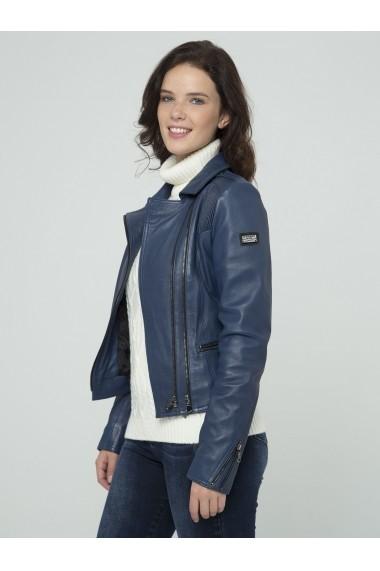 Jacheta din piele Sir Raymond Tailor SI7262448 Indigo