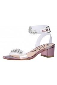 Sandale cu toc Xyxyx 57437851 roz