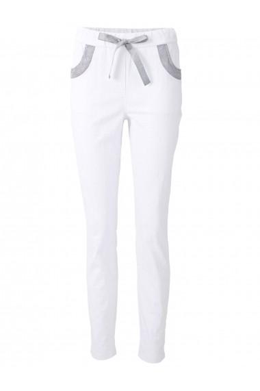Pantaloni drepti heine CASUAL 13250122 alb