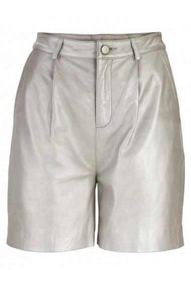 Pantaloni scurti din piele heine STYLE 49789732 argintiu - els