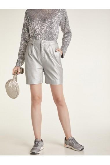 design nou top fashion cel mai bine vândut Pantaloni scurti din piele heine STYLE 49789732 argintiu - els ...