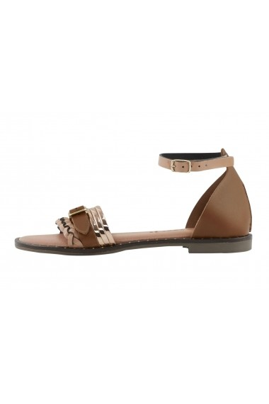 Sandale plate Heine 79290857 maro - els