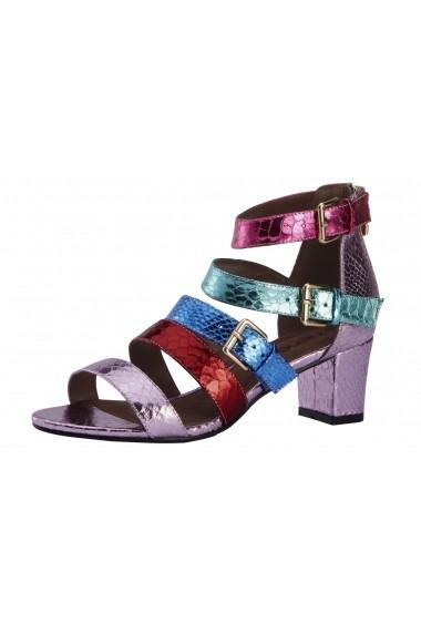 Sandale cu toc Heine 40843411 multicolor - els