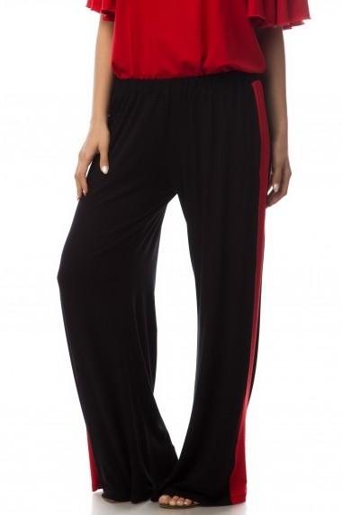 Pantalon Colors by Mia Retrochic black red