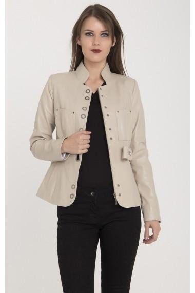Jacheta din piele Giorgio Di Mare GI7681432 Bej