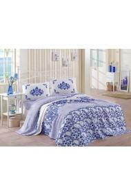 Cuvertura pat dublu 162ELR5234 EnLora Home Albastru