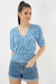 Bluza cu maneca scurta Clementine 580CMT1531 albastru