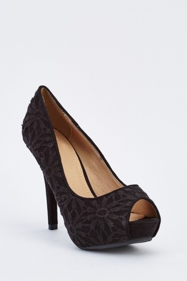 Pantofi cu toc 636166-259290 Negru - els