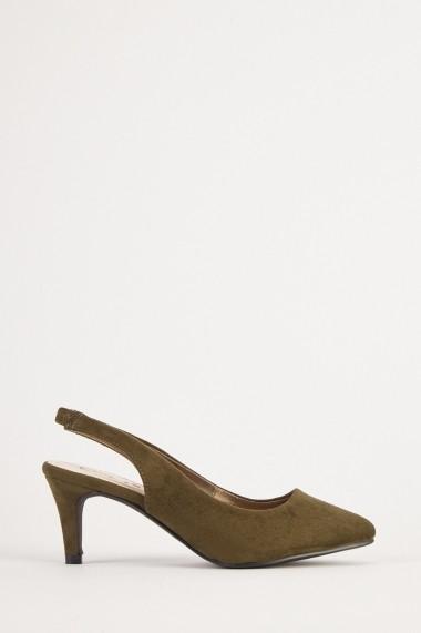 Pantofi cu toc eOutlet 654500-295945-140980 Kaki