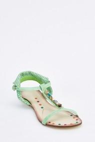 Sandale plate 635199-257335 Verde