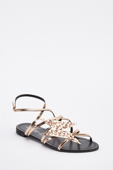 Sandale plate 638890-264746 Auriu - els