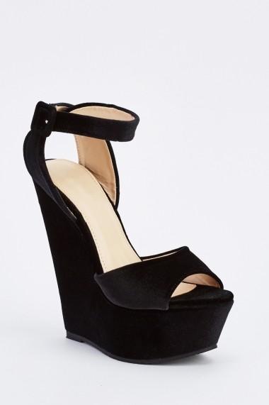 Sandale cu toc 637048-261100 Negru