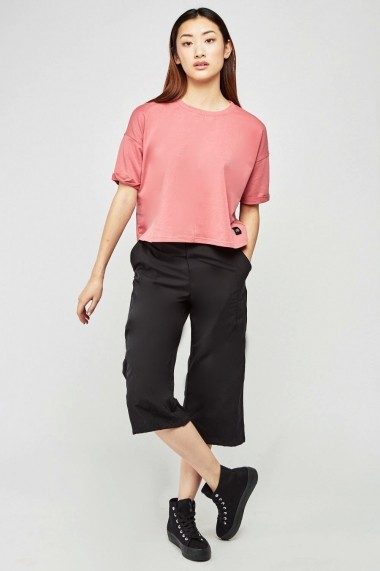 Pantaloni largi eOutlet 654521-295979-2124 Negru