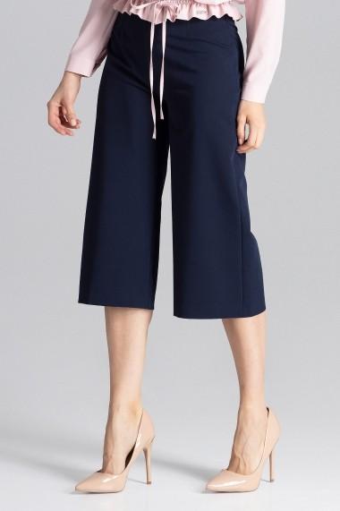 Pantaloni largi Figl M655 Bleumarin